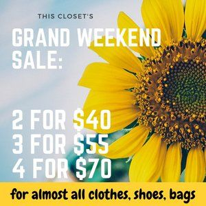 $25 for most clothes, shoes, bags